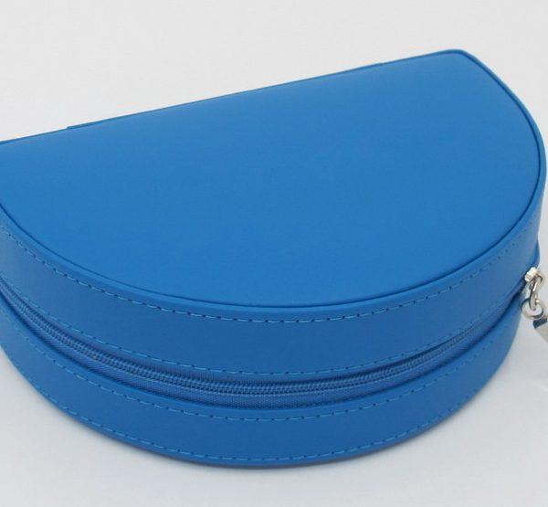 London Harness Half Moon Box, Blue