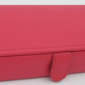 London Harness Jewelry Box, Raspberry