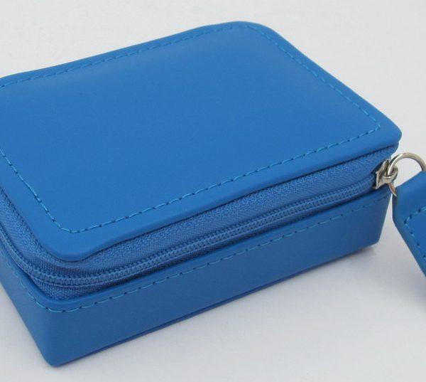 London Harness Mini Jewel Box, Blue
