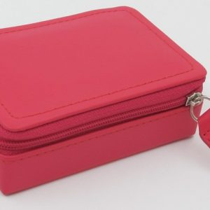 London Harness Mini Jewel Box, Raspberry