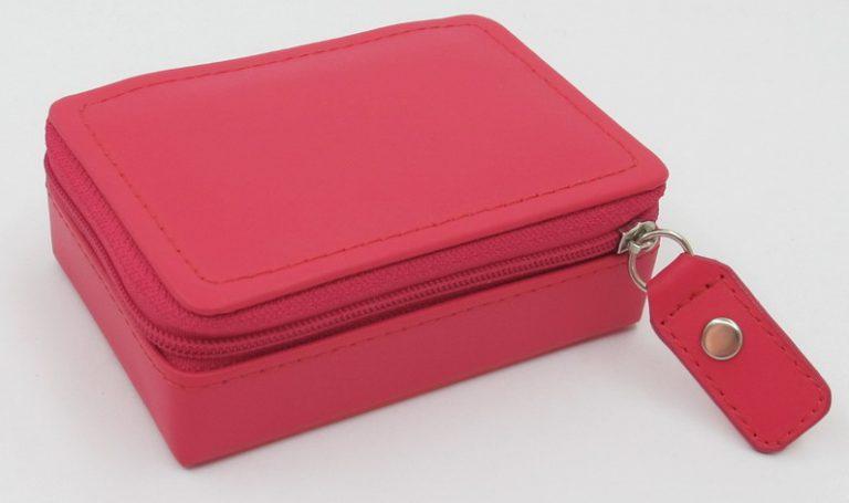 London Harness Mini Jewel Box, Raspberry