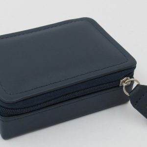 London Harness Mini Jewel Box, Navy