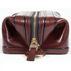 Bosca Zippered Toiletry Kit in Dark Brown Old Leather