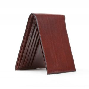 Bosca Executive ID Wallet in Dark Brown Old Leather