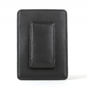 Bosca Front Pocket Money Clip Wallet Nappa Vitello Black