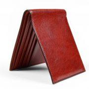 Bosca 8 Pocket Wallet in Cognac Old Leather