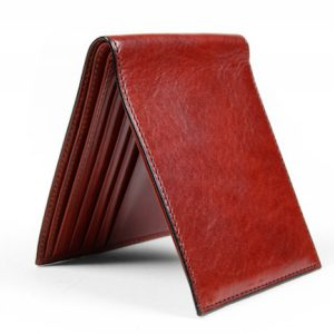 Bosca 8 Pocket Wallet in Cognac Old Leather