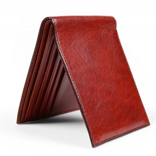 Bosca 8 Pocket Wallet Cognac
