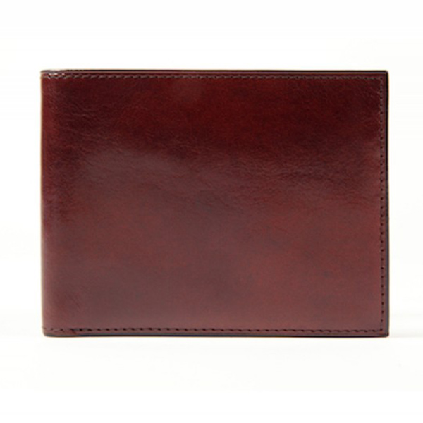 Bosca 8 Pocket Wallet in Dark Brown Old Leather