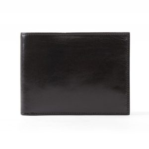 Bosca 8 Pocket Wallet in Black Old Leather