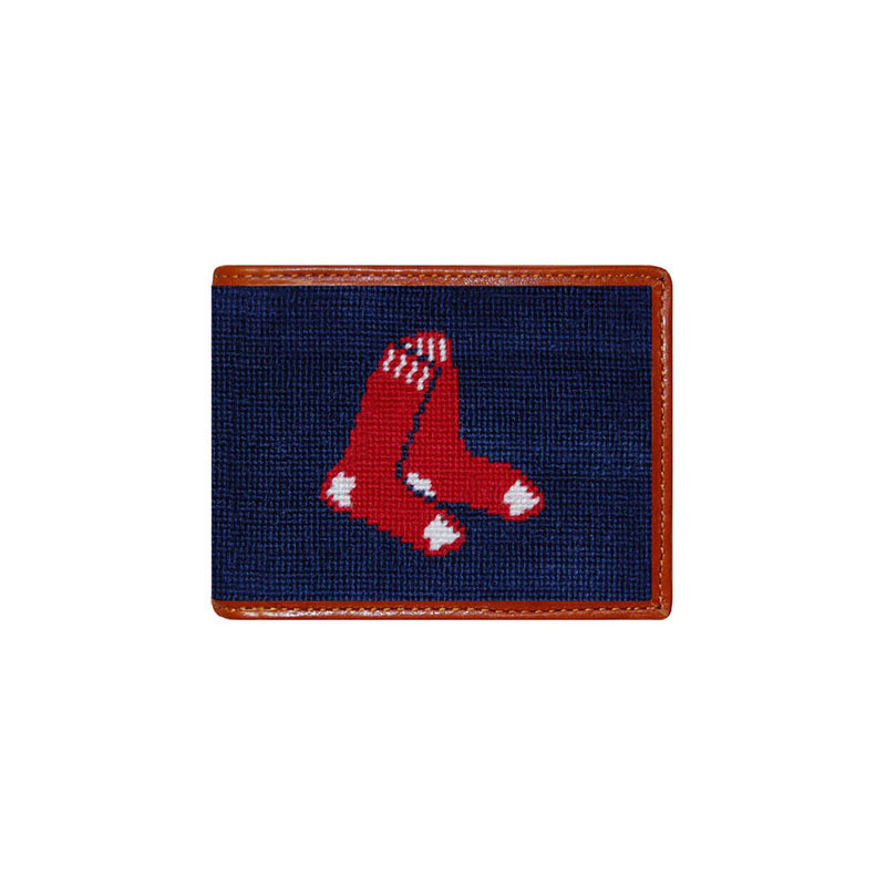 Smathers and Branson Boston Red Sox Needlepoint Bi-Fold Wallet