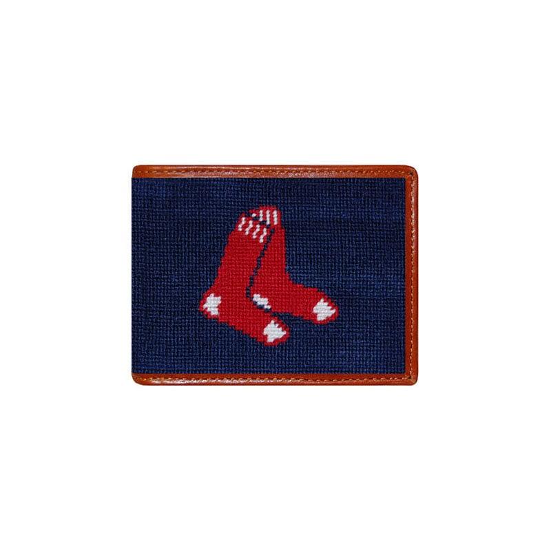 Smathers and Branson Boston Red Sox Needlepoint Bi-Fold Wallet