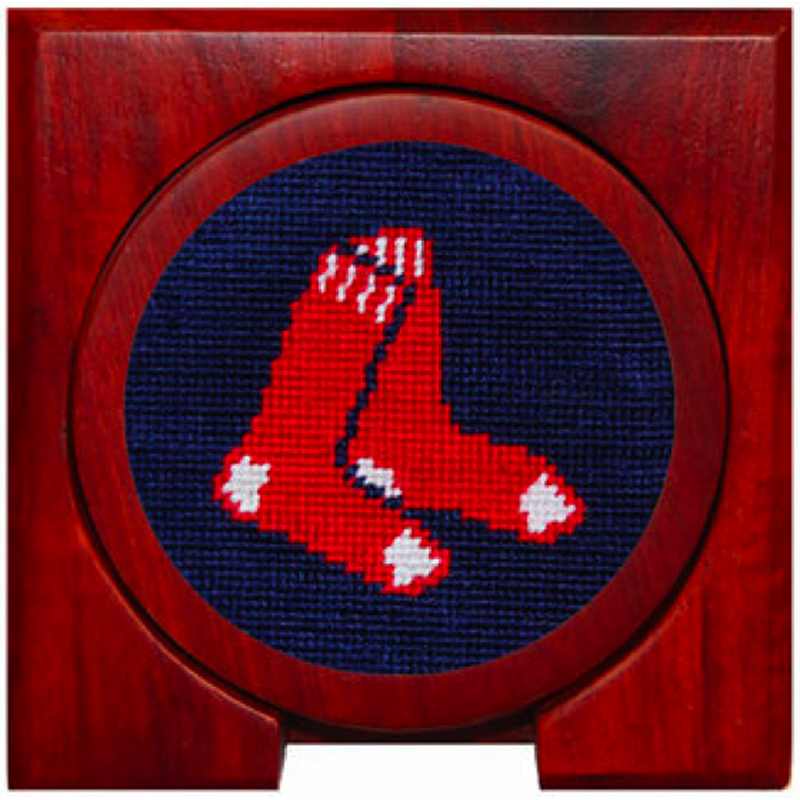 Smathers and Branson Boston Red Sox Needlepoint Coaster Set