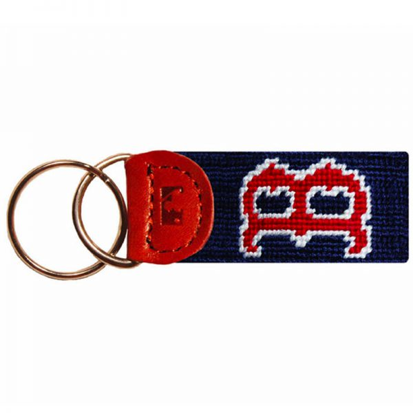 Smathers and Branson Boston Red Sox Needlepoint Key Fob