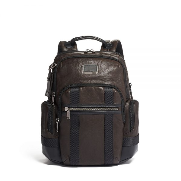 TUMI Nathan Expandable Backpack Leather
