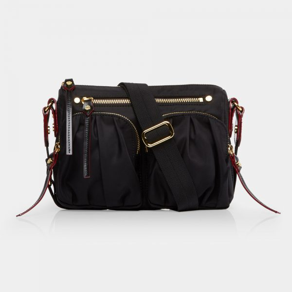MZ Wallace Mini Paige, Black with Gold Hardware