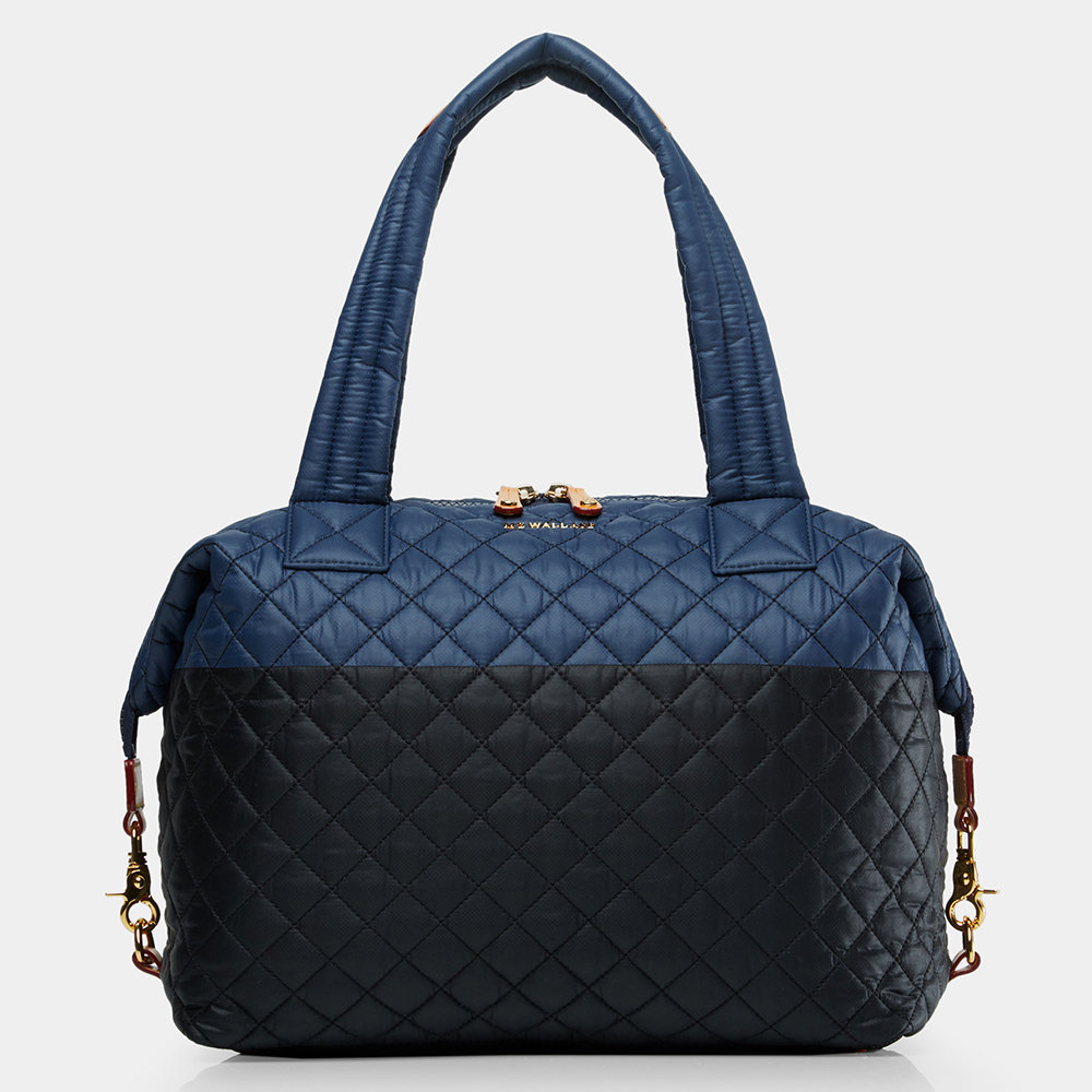 MZ Wallace Large Sutton in Navy & Black Colorblock