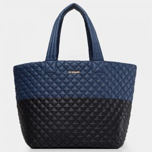MZ Wallace Large Metro Tote in Navy & Black