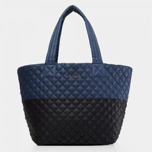 MZ Wallace Medium Metro Tote, Navy/Black Colorblock
