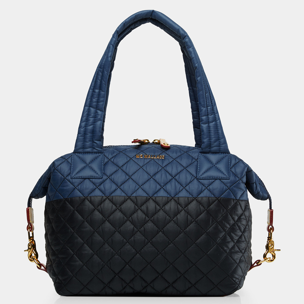 MZ Wallace Medium Sutton in Navy & Black