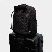 MZ Wallace Crosby Backpack, Black with Silver Hardware