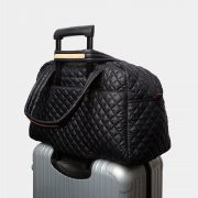 MZ Wallace Jim Travel Duffel in Black