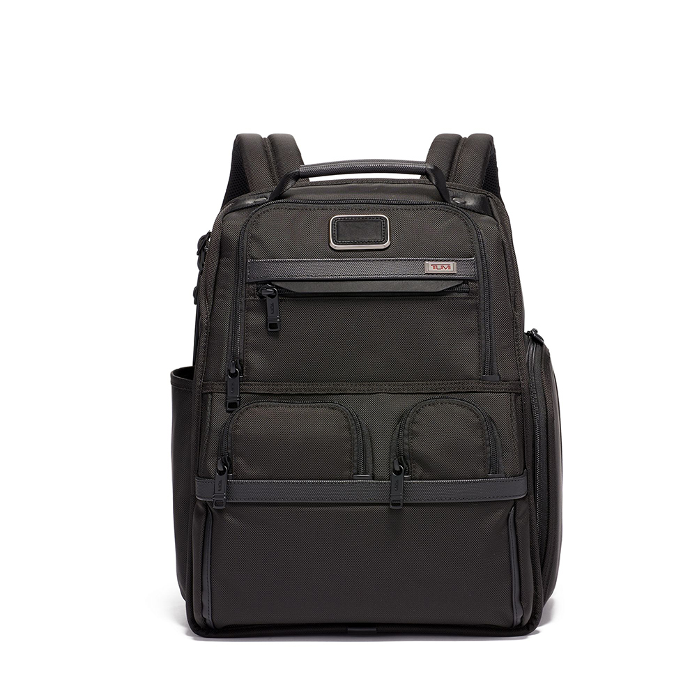 TUMI Compact Laptop Brief Pack, Black