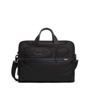 TUMI Compact Large Screen Laptop Brief, Black
