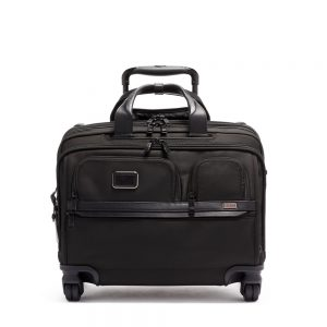 TUMI Deluxe 4 Wheeled Laptop Case Brief, Black