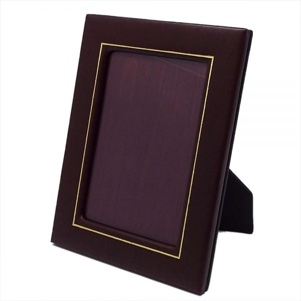 London Harness Leather Frame with Gold Tooling 4×6