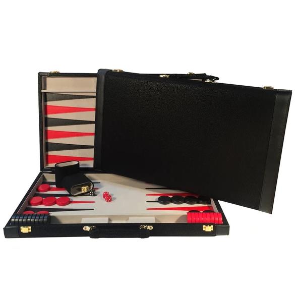 Black Suede Backgammon Set