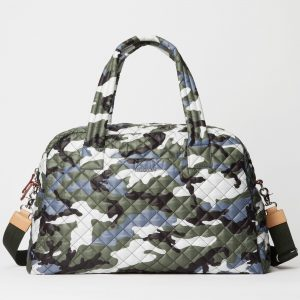 MZ Wallace Jim Travel Duffel in Ocean Camo