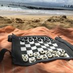Sondergut Roll-Up Travel Chess & Checkers Game