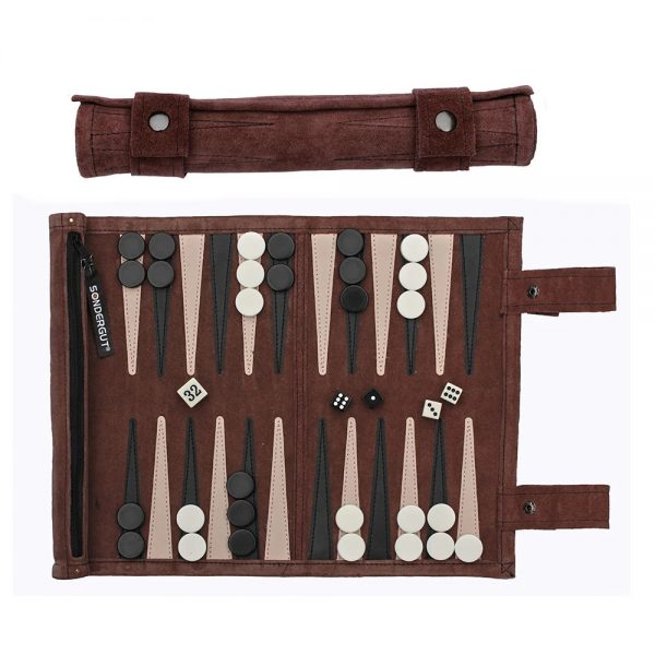 Sondergut Roll-Up Travel Backgammon Game