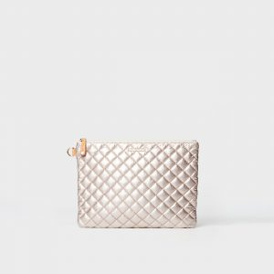 MZ Wallace Metro Pouch in Rose Gold Metallic