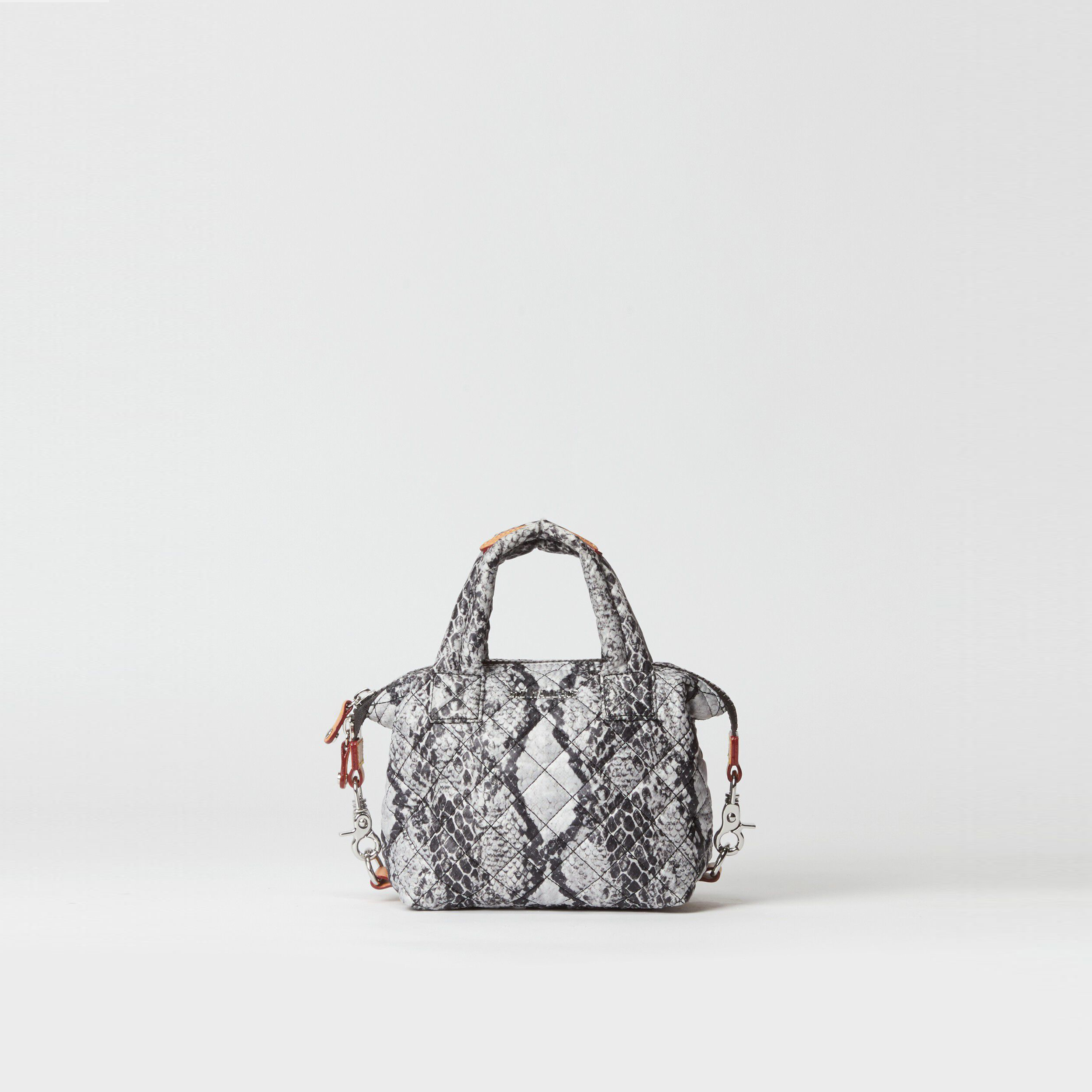 MZ Wallace Micro Sutton in Grey Snake Print