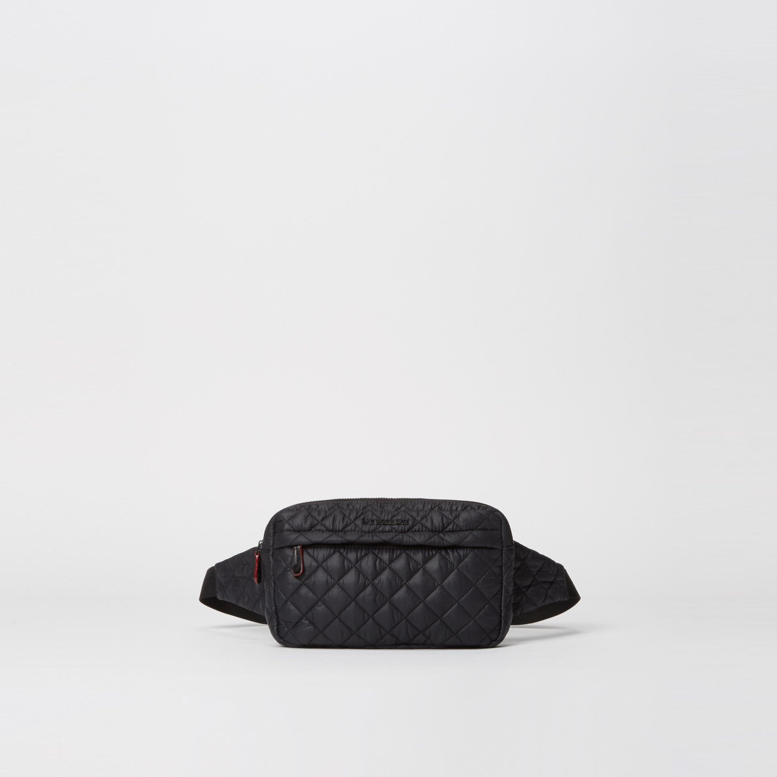 MZ Wallace Large Metro Belt Bag in Black