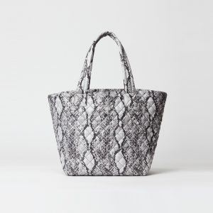 MZ Wallace Medium Metro Tote in Grey Snake