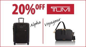 20% Off TUMI Event Continues