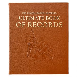 Graphic Image Major League Baseball Ultimate Book of Records in Saddle