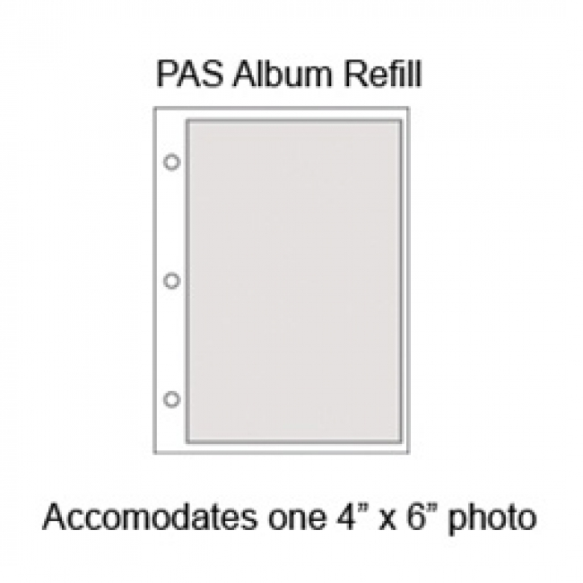 Graphic Image Small Ring Photo Album Refills Pages