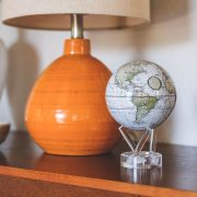 Mova Globe 4.5″ White Terrestrial Map with Acrylic Base