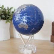 Mova Globe 4.5″ Blue & Silver Map with Acrylic Base