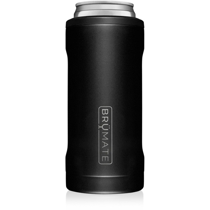 Brumate Hopsulator Slim Can – Matte Black (12oz Slim Cans)
