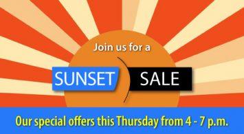 Sunset Sale – August 6