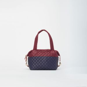 MZ Wallace Medium Sutton in Maroon and Navy Colorblock