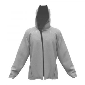 G95 Biohoodie Full Zip in Grey