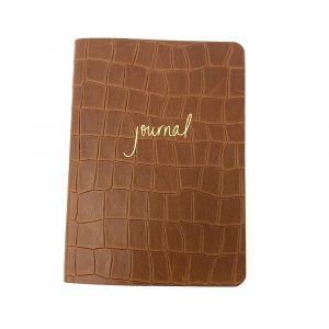 Graphic Image Journal in Brown Croco