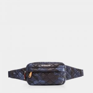 MZ Wallace Metro Belt Bag in Blue Camo
