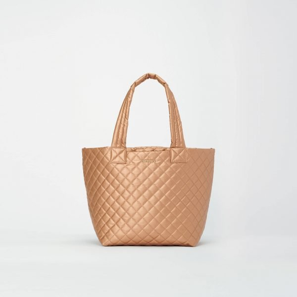 MZ Wallace Medium Metro Tote Deluxe in Copper Metallic